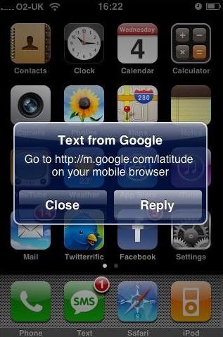 Google Text latitude
