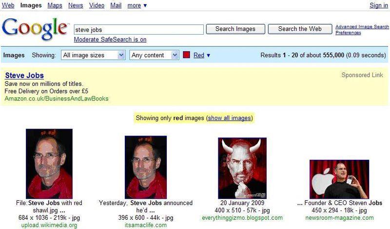 Steve Jobs red